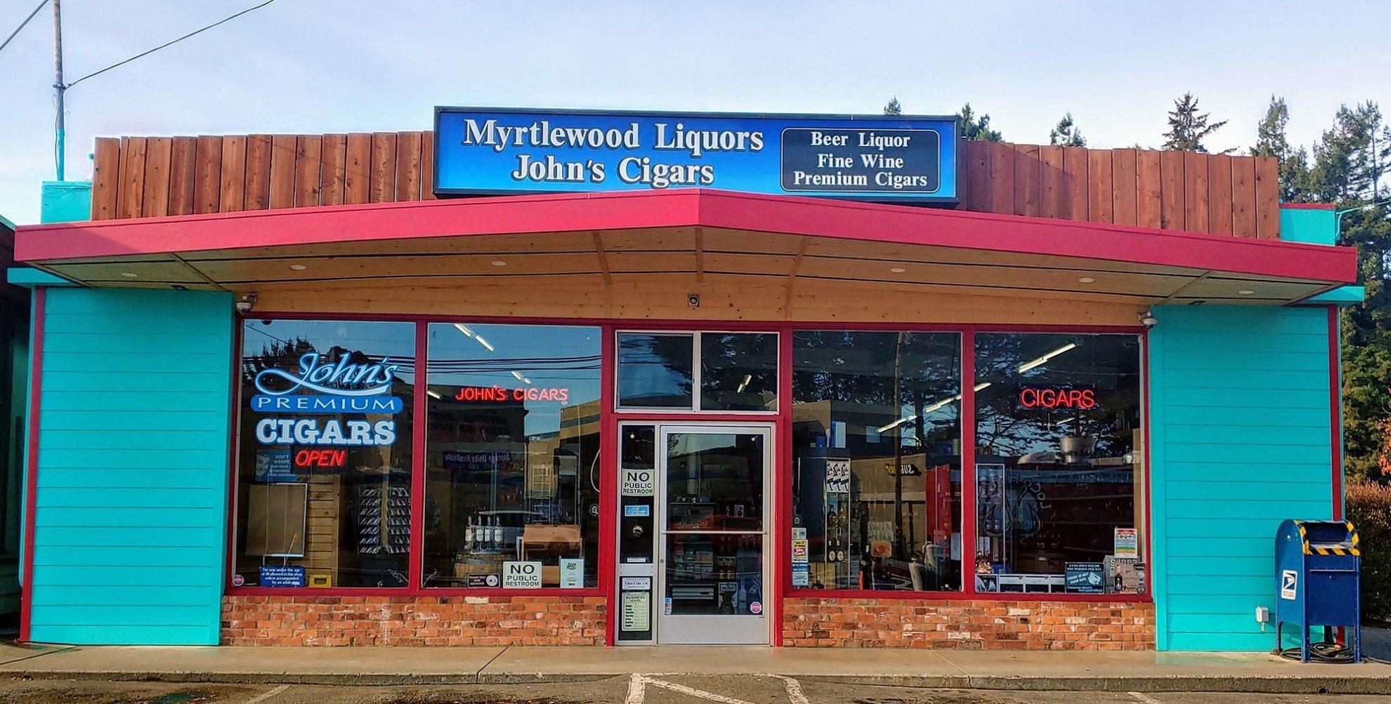 myrtlewood liquors storefront in eureka, ca